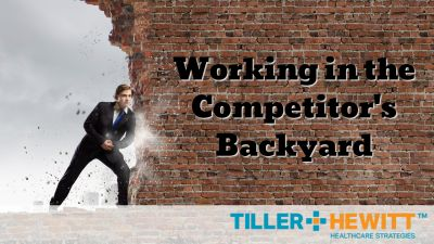 working in the competitor's backyard graphic