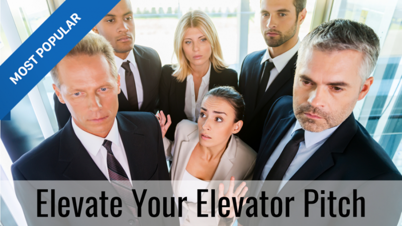 elevate your elevator pitch